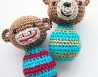 Crochet Pattern PDF-Lil' Monkey and Bitty Bear