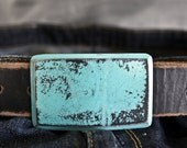 Aqua Recession Belt Buckle & Belt by Fosterweld