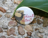 Deer Plant Eater 1 inch Pinback Button