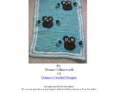 Crochet Pattern Monkey Faces Afghan Blanket in PDF