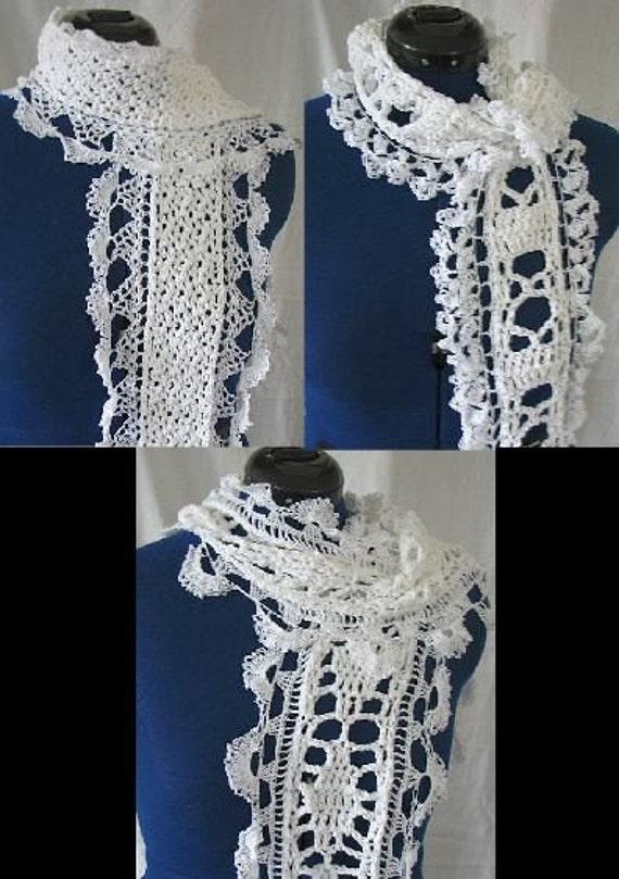 Crochet Pattern 3 Lace Scarves in PDF