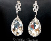 CUSTOM ORDER Reserved for tiirachel Wedding Earrings, Wedding Accessories, Bridal Jewelry,  Priscilla