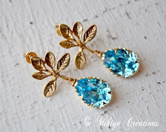 Bridemaid Earrings, Bridal Accessories,  Bridesmaid Gift, Wedding Accessories - Chandelier Swarovski Crystal Cubic Zirconia Drop Earrings