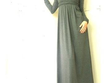 MAXI DRESS womens dress| grey dress| trending items| best selling| long dress| dress with long sleeves| ankle length dress| unique dress