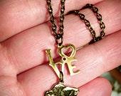 Buffalo Love Brass Necklace - Buffalove 70's Edition