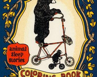animalsleep coloring book