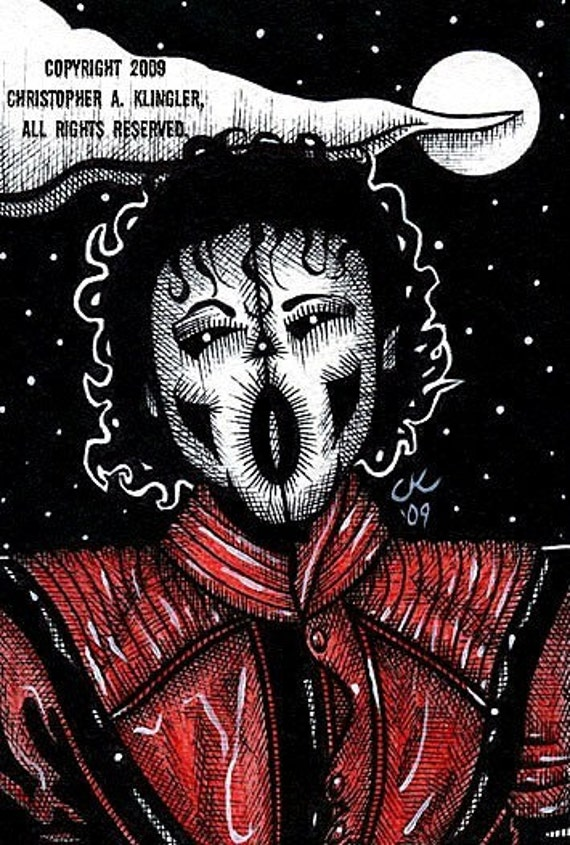 Limited Edition MJ Close 2 Midnight - Postcard Print