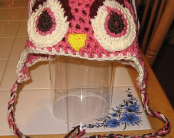 Crocheted Adult Owl Beanie