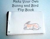 DIY- Bunny and Bird Flipbook- pdf file