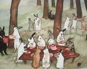 The Reunion -  Fine Art Rabbit Print