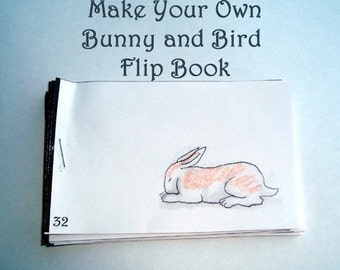 DIY- Bunny and Bird Flipbook- pdf file