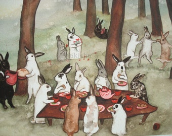 The Reunion -  Fine Art Rabbit Print