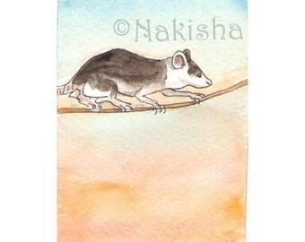 The BlueDogRose Tarot - Original Art - Three of  Rodents