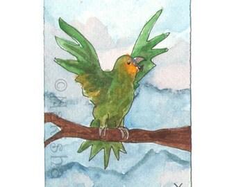 The BlueDogRose Tarot - Original Art - Ten of  Birds