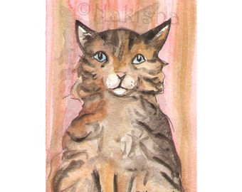 The BlueDogRose Tarot - Original Art - Queen of Cats