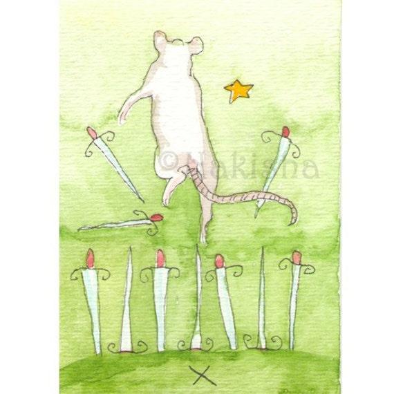 TaRat - The Rat Tarot - Original Art - Ten of Swords