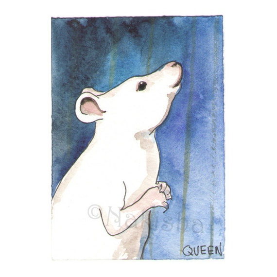 The BlueDogRose Tarot - Original Art -  Queen of Rodents