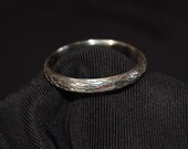 The Straight Tree Vine Sterling SIlver  Band
