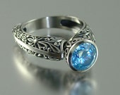 THE COUNTESS silver ring with Blue Topaz