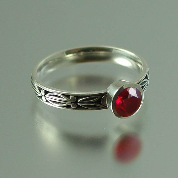AUGUSTA 14K gold engagement ring with Ruby RESERVED for Temur
