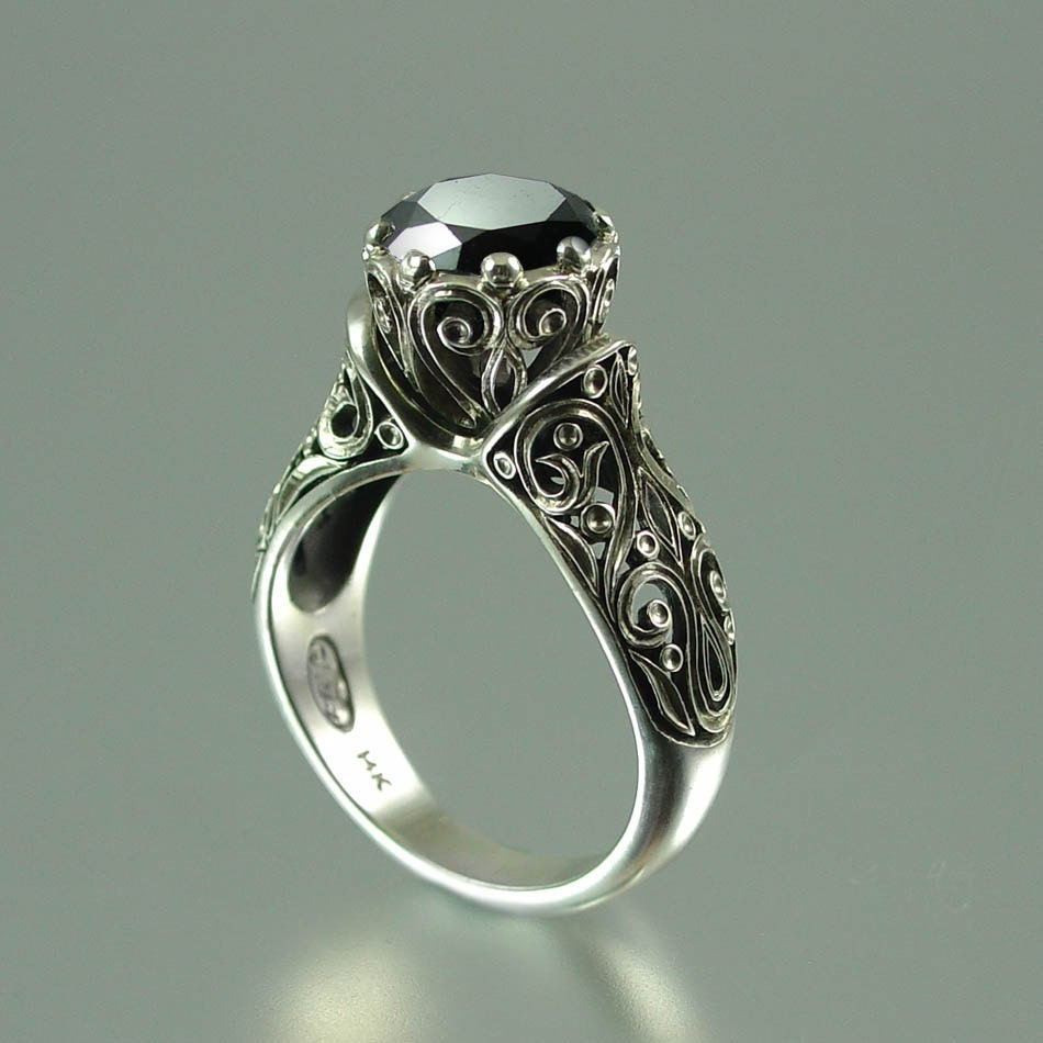 Black Diamond Ring Custom