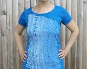 SALE Women's Organic Geology Wave Tee - Blue