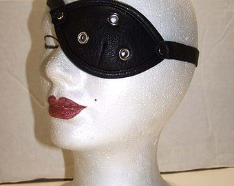 Helsing Project Pip Bernadotte Black Leather Eyepatch  Cosplay Costume by Darkwear Clothing