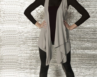 LONG Drape Vest / Top - Multiple Colors Available - Any size