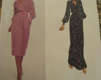 Vintage Vogue Paris Original 2105 Christian DIOR Misses Dress and Scarf Pattern sz 12 B 34