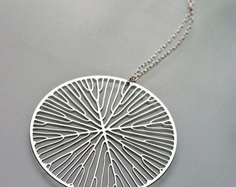 Peltate pendant (stainless steel) // geometric jewelry // art - science - nature // minimalist