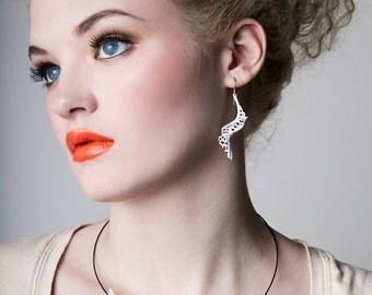Spiral Earrings (3D printed nylon)