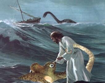 Jesus Saves the Sea Creatures (large print)