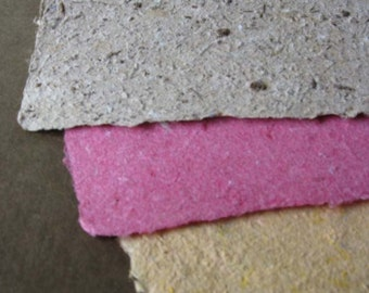 Handmade Paper 8.5 x 11 inches, all Recycled content, artist and scrapbooking-Recycled Handmade Paper