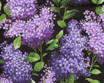 LILAC Quilt Fabric - Pretty Purple Lilacs Flowers - BESTSELLER
