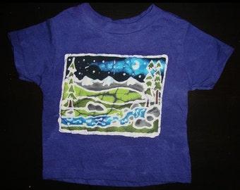 Kids Handmade Batik River Mountain Shirt