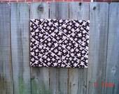 Pink Butterfly On Chocolate Memory Board French Memo Board, Nursery Decor, Baby Shower Gift, Fabric Ribbon Memo Bulletin Board,