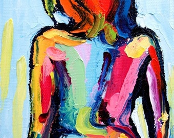 Femme 66 - small 5x7 abstract nude print reproduction by Aja ebsq