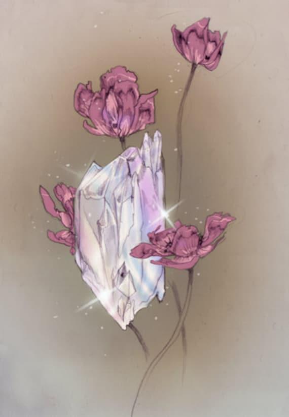White Magic // Stone / Crystal / Fantasy Art Print
