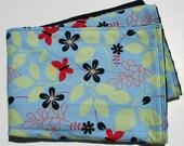 Retro Butterfly Garden - Minky Baby Blanket