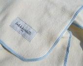Organic Baby Blanket - Blue- 100% Organic Cotton - All Natural - Baby Blanket - Boy Baby Blanket
