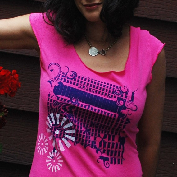 SMALL ONLY - 50% OFF - limited sizes, Silkscreen womens tshirt