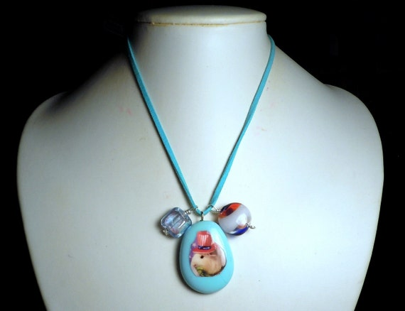 Patriotic Fourth Of July GUINEA PIG Necklace - Featuring Cavy Uncle Sam!