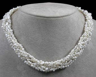 Pearl and Crystal Collar