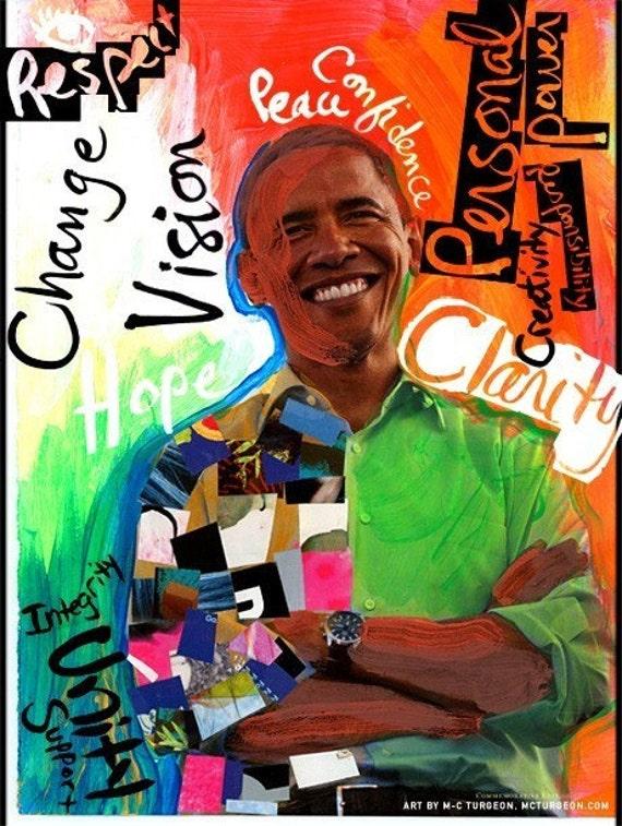 Obama Art Poster - Large print limited edition poster (not framed)