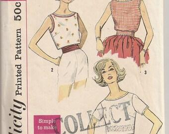 Vintage 1950s Pattern - Blouse - Size 14 - 34 bust