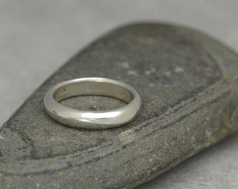 The Classic Ring - Domed Band in Reclaimed Sterling Silver - Made to Order with a Comfortable Fit