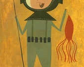 Deep Sea Diver.  Limited edition print by Matte Stephens.