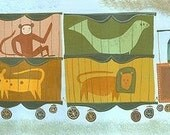 Circus Train.  Limited edition print by Matte Stephens.