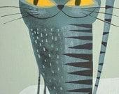 Krasner Kitty.  8.5x11 print by Matte Stephens.