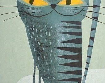 Krasner Kitty.  Open edition print by Matte Stephens.